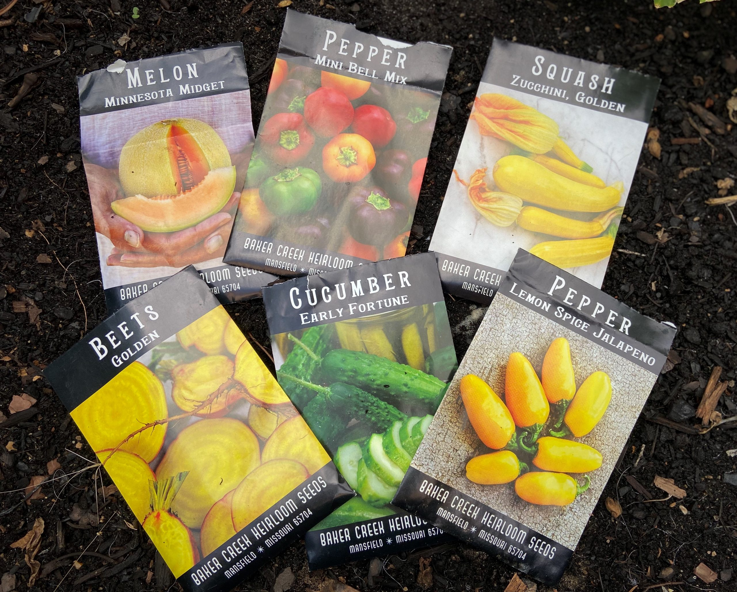 Gardening is therapeutic photo of seed packets